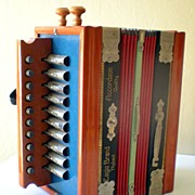 SALE 1920's Small Size Accordion Accordeon Eagle Made in Germany