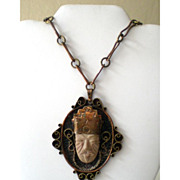 Outrageous Vintage Marked Copper Necklace