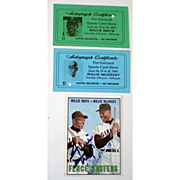 SALE 1967 Topps MLB #423 Fence Busters Mays/McCovey AUTOGRAPHS