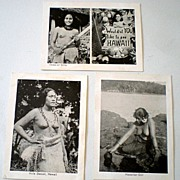 (3) Real Photo Souvenir Cards Hawaiian Hula Girls