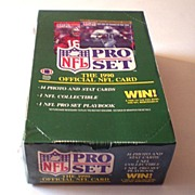 Box of 36 Unopened Packs 1990 Pro Set Football Cards Series 1