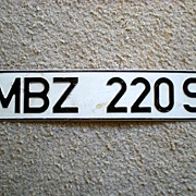 Vintage Tin Sign MBZ 220 S