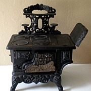 SALE Vintage Miniature Cast Iron Stove