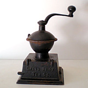 "Scarce Antique Coffee Grinder ""Grand Union Tea Co."""