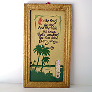 Hawaiian Tropical Framed Thermometer with Poem
