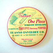 Large Old Advertising Pocket Mirror