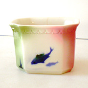 Rare Syracuse China Airbrush Fish Planter Restaurantware