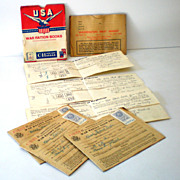 WW II Ration Books and Advertising Holders Some stamps