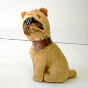 Vintage WORKING Wind Up Toy Dog Japan