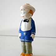 1920's &quot;SMITTY&quot; Bisque Bobble Head Doll Germany