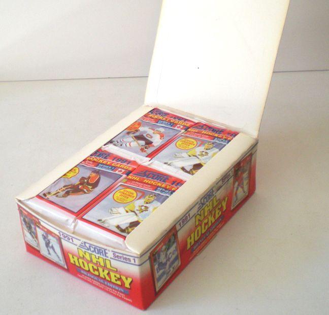 hockey card boxes