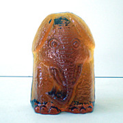 Signed Blenko  Art Glass Elephant