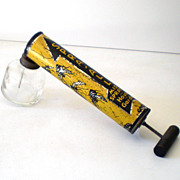 Vintage Tin Pest Fly Sprayer Misted Great Graphics