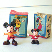 (2) Disneykins In Boxes Mickey Mouse Monte Mouse