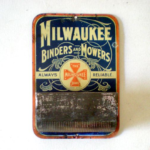 Vintage Advertising Tin Matches Holder Circa 1900