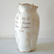 Award Presentation Pitcher &quot;Nurse Gruline&quot; Dated 1899