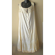 Lovely Victorian Nightgown Cotton and Lace