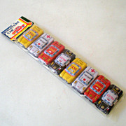 8 Mini Tin Litho Cars Made in Japan Mint in Package