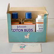 1950s  Johnson's Baby Items  In Original Gift Box