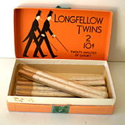 1930s Longfellow Twins Cigarettes in Box Tax Stamp