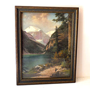 1920s-30s Vintage Print in Nice Frame