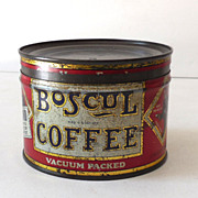 Small Sample Coffee Key Wind Tin With Original Lid