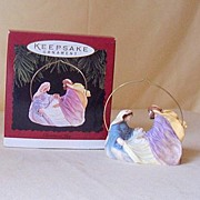 "1996 Hallmark Ornament ""Christmas Joy"" Baby Jesus"