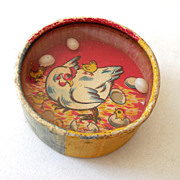 Vintage Two Sided Dexterity Game Clown and Chicken