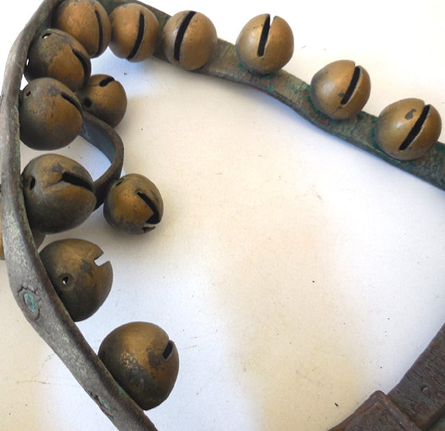 Antique Horse Sleigh Bells on Leather Strap from californiagirls on ...