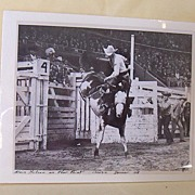 SALE Original 1958 Rodeo Cowboy Photograph 8X10