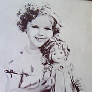 SALE PENDING HUGE Vintage Shirley Temple Framed Photograph