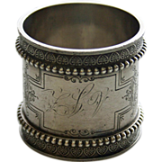 Heavy American Antique Sterling Napkin Ring