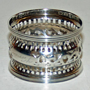 Vintage Webster Sterling Napkin Ring