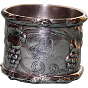 1856 Antique French Sterling Napkin Ring