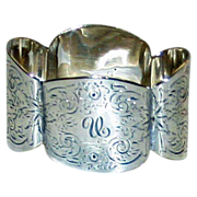 1893 Sterling Napkin Ring - Bow Tie Shape