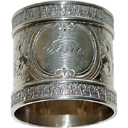 Antique Heavy Coin Silver Napkin Ring