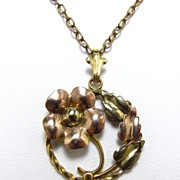 SALE Pretty Cellini craft Gold Filled Pendant and Necklace