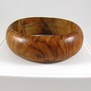 SALE Wonderful Wooden Bangle Bracelet