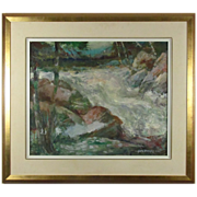 SALE George Menendez Rae Vibrant Oil Painting from Listed Artist