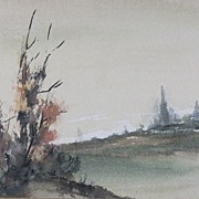 SALE Splendid Landscape Watercolors by Artist L.Talbot