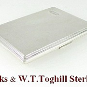 Birks & W.T.toghill & Co  Sterling Silver Cigarette Case