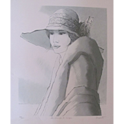 SALE Bernard Modeste Wonderful Lithography by Listed Artist
