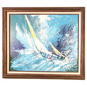 SALE Superb Oil Painting of a Nautical Scene
