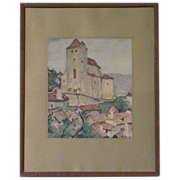 SALE Maurice Felix ( 1895-1972) Listed Artist Gorgeous Watercolor