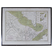 Beautiful Antique Map of Canada 1769 by Isaak Tirion