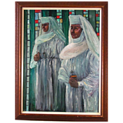 SALE Dr. Joseph Hilpert (1895-1975) Beautiful Religious Oil Painting