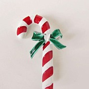SALE Wonderful Gerry's Candy Cane Brooch Pin