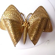 SALE Signed Made in Czechoslovakia Butterfly brooch Pin