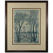 SALE Wonderful Etching S/N by Artist