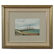 SALE Superb Landscape Watercolor by Artist Linklater